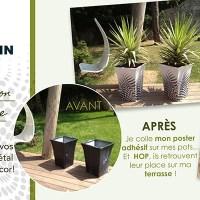 La déco de vos accessoires jardin avec le poster adhésif !