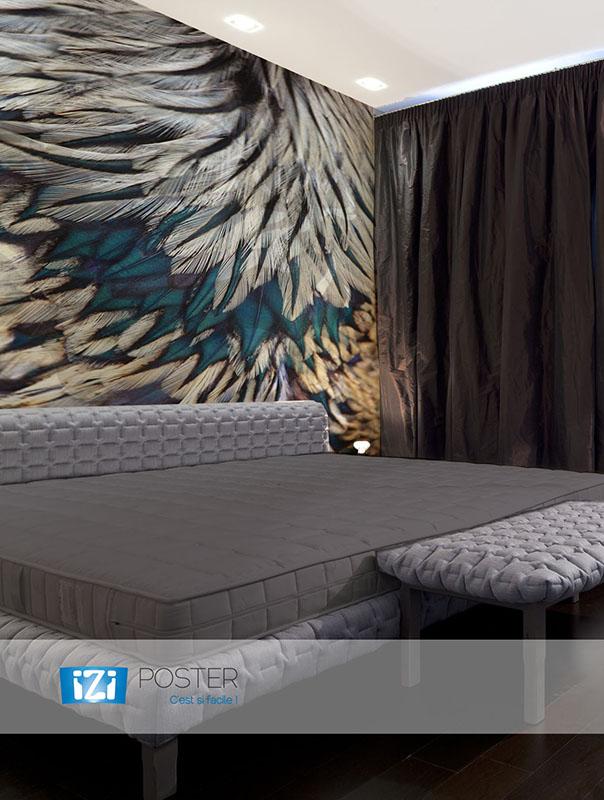 papier peint plume d coration murale. Black Bedroom Furniture Sets. Home Design Ideas
