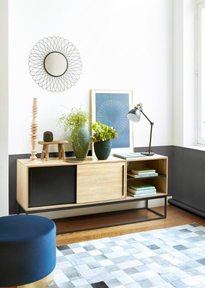 meuble tv industriel vincente pas cher
