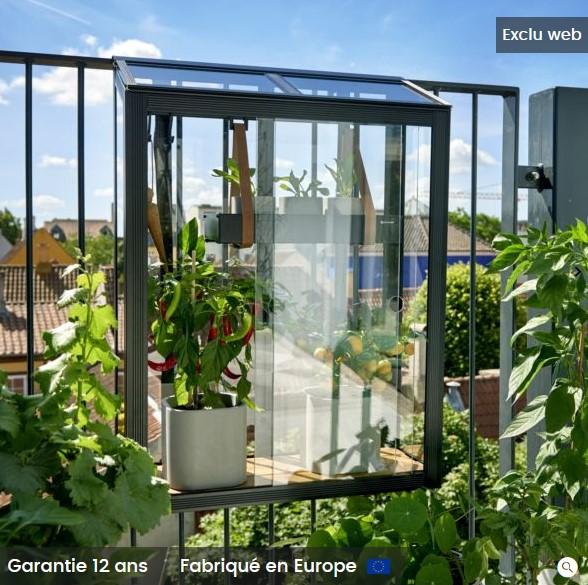 https www iziva com serre en verre trempe balcony juliana noir 0 16 m pas cher serre de jardin gamm vert html