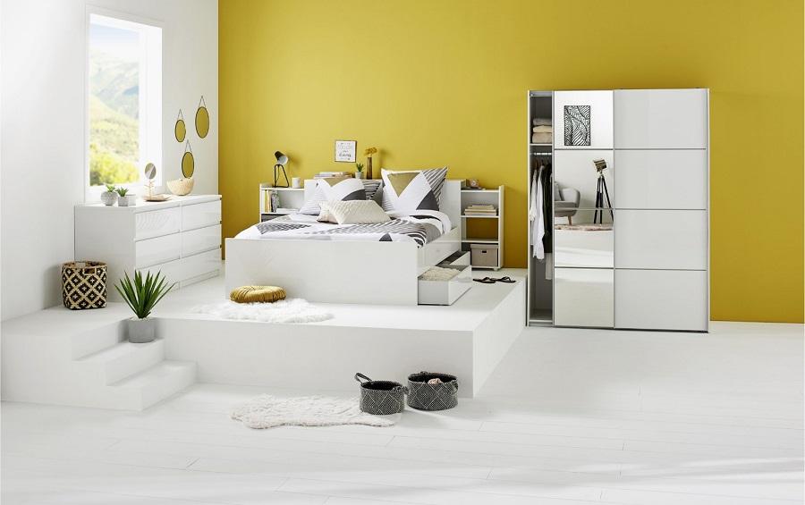 commode 2x3 tiroirs best lak blanc pas