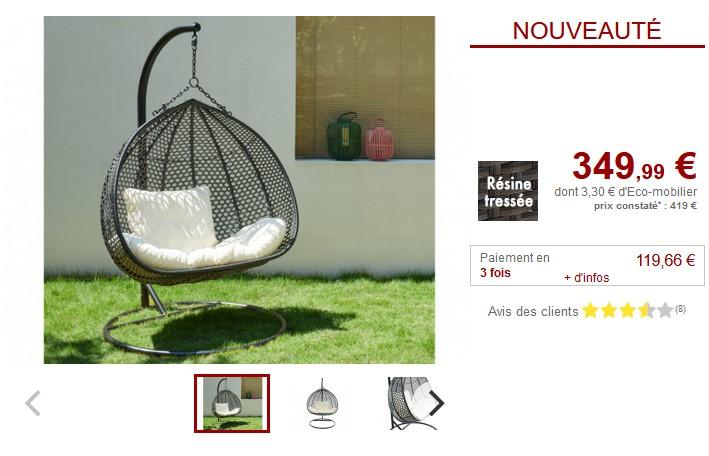 fauteuil de jardin castorama fauteuil