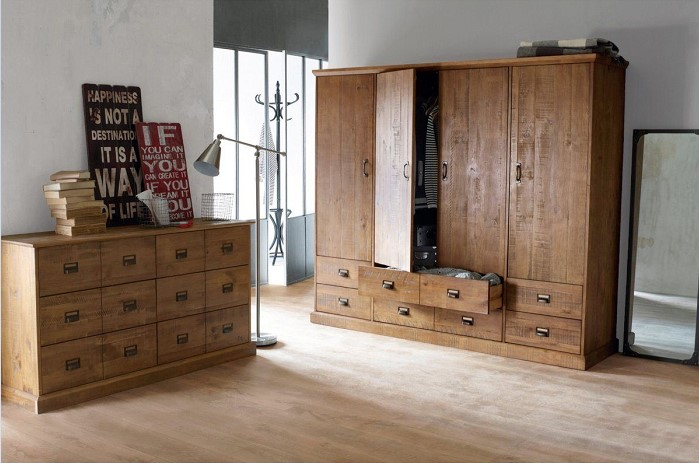 armoire lindley bois fonce chene la