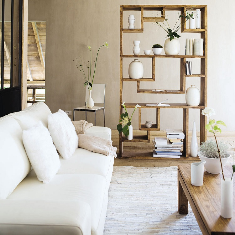 etagere en bois de sheesham massif stockholm etagere maisons du monde iziva com