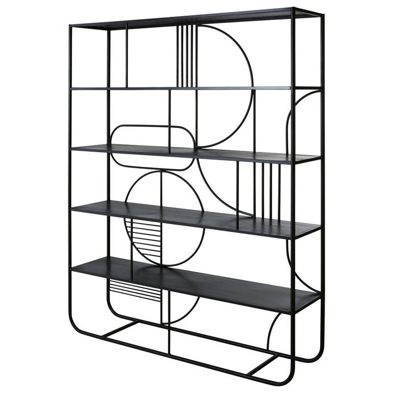 etagere graphique ganni en metal noir