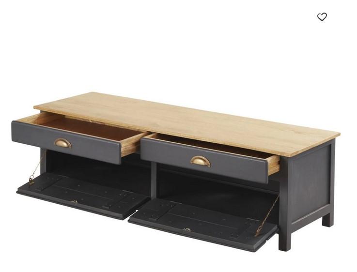 meuble tv cezanne 2 portes 2 tiroirs en