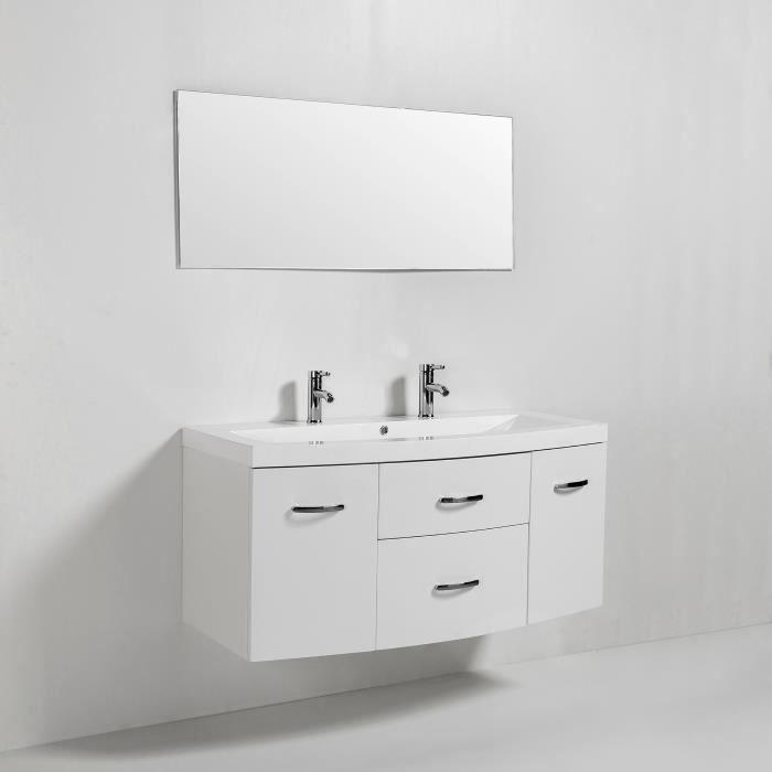 Pacome Salle De Bain Complete Simple Vasque Blanc Brillant Pas Cher Meuble Salle De Bain Cdiscount Iziva Com