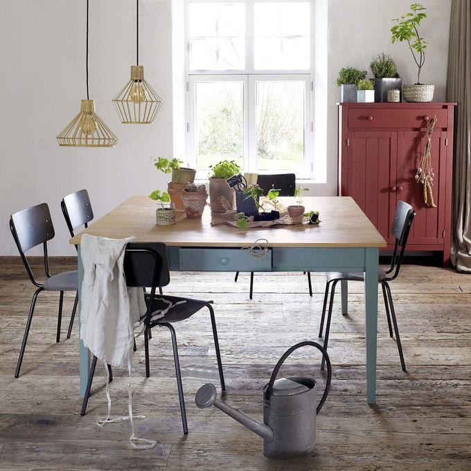 table a manger alvina noir 8 couverts