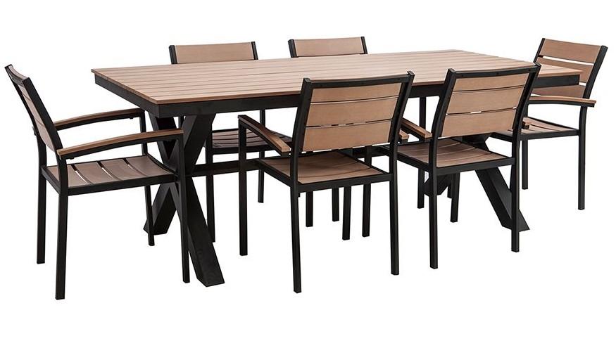 salon de jardin viaggio avec table et 6