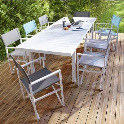 Table De Jardin En Aluminium Batang Blanc Table De Jardin Castorama Iziva Com