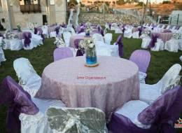 Düğün Organizasyonu Kumaş ve Tül Süslemeli Plastik Sandalye Temini