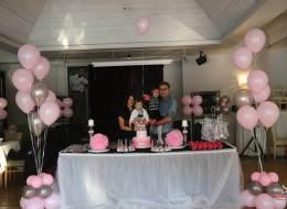 Kız Çocuk Doğum Günü Uçan Balonlar ile Süsleme Servisi İzmir