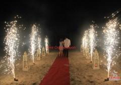 Kumsalda Evlilik Teklifi Organizasyonu Yer Volkanları Gösterisi İzmir Organizasyon