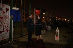 Mutluluk Teknesi Evlenme teklifi Organizasyonu Ruken Mehmet 2 - Mutluluk Teknesi'nde Kemanlı Evlilik Teklifi Organizasyonu