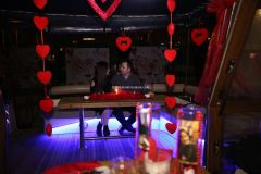 Mutluluk Teknesi Evlenme teklifi Organizasyonu Ruken Mehmet - Mutluluk Teknesi'nde Kemanlı Evlilik Teklifi Organizasyonu