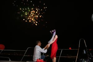 Hıdırellez'de Havai Fişek İle Teknede Evlenme Teklifi Organizasyonu Havai Fişek Gösterisi