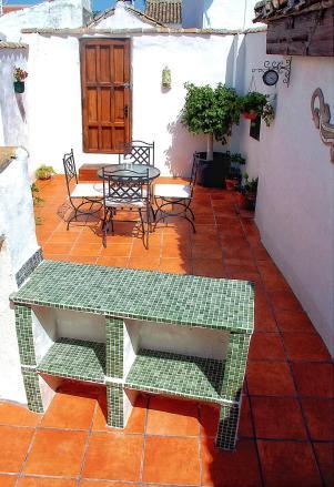 Terrace Casa Las Eras, La Celada, Iznajar, Andalucia