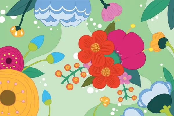 papier peint scandinave blomma