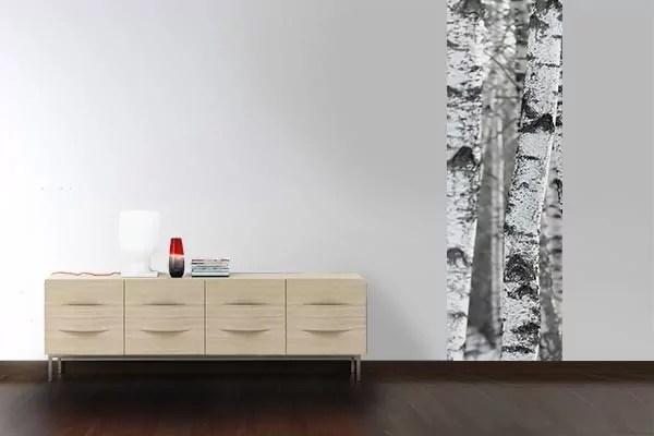 Papier Peint Arbre Blanc Pour Dco Style Scandinave