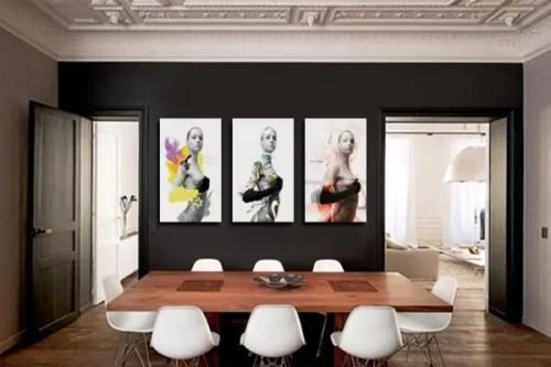 Dcoration Murale Avec Un Tableau Triptyque Moderne Izoa