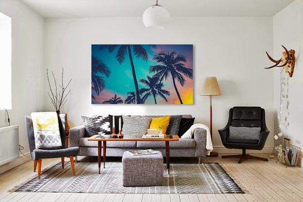 tableau-deco-palmier-tropicaux