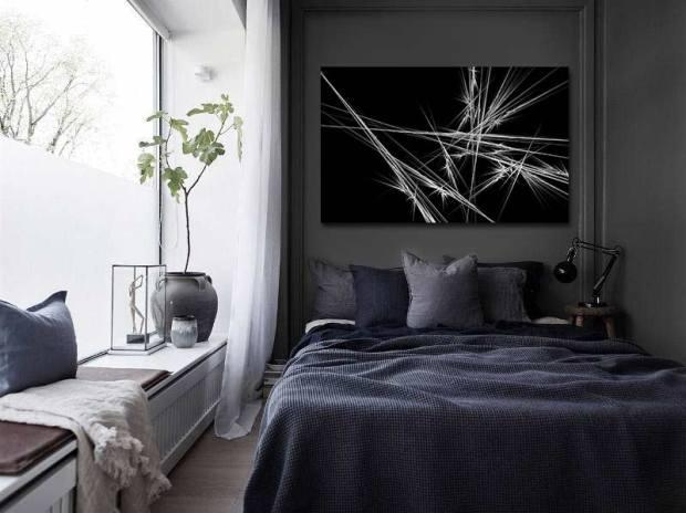 tableau design abstrait chambre moderne