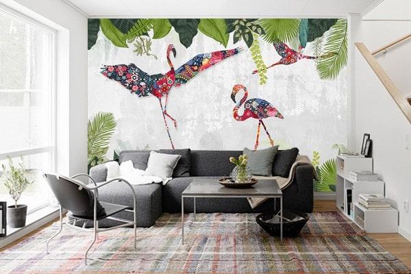 décoration murale bohème papier peint izoa