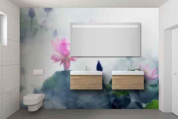 papier peint intissé zen pour salle de bain
