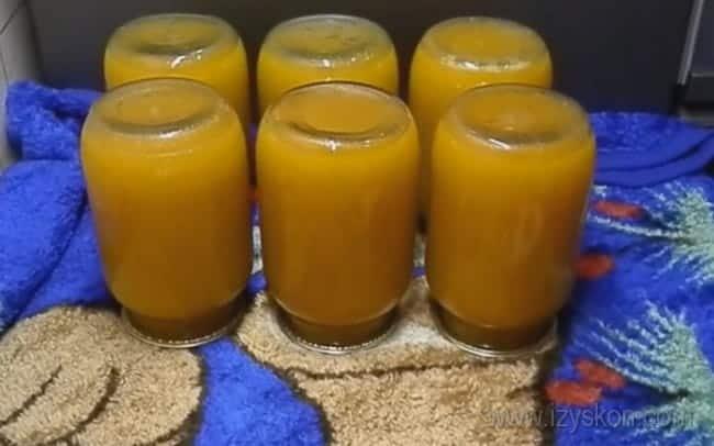 Вот мы и приготовили витаминный сок из тыквы с апельсином на зиму.