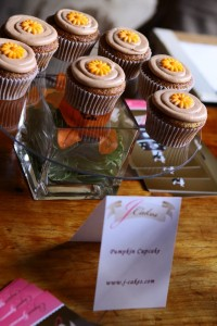 JCakes custom cupcakes on display