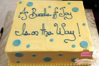 (215) Polka Dot Baby Shower Cake