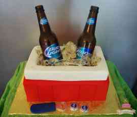 (160) Cooler Birthday Cake