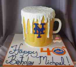 (175) Beer Mug Birthday Cake