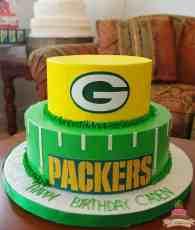 (164) Packers Theme Birthday Cake