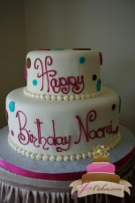 (125) Polka Dot Birthday Cake