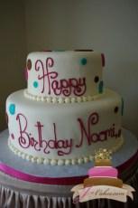 (125) Polka Dot Birthday Cake