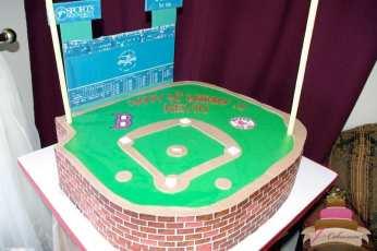 (130) Baseball Stadium Birthday Cake