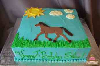 (494) Horse Theme Cake
