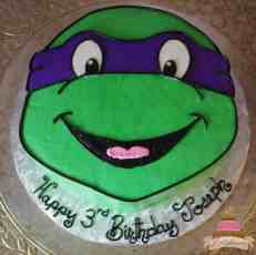 (496) Ninja Turtle Shaped Cake