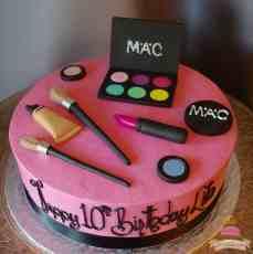 (522) MAC Make-Up Theme Cake