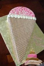 (414) Ice Cream Cone Birthday Cake