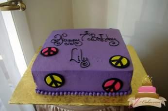 (424) Peace Sign Birthday Cake