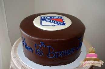 (430) Hockey Puck Birthday Cake