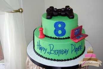 (431) Video Game Theme Birthday Cake