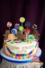 (440) Candy Land Birthday Cake
