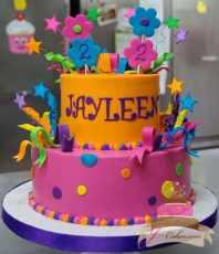 (447) Crazy Color Birthday Cake