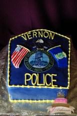 (702) Police Badge Groom's Cake