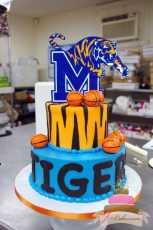 (704) Memphis Tigers Groom's Cake