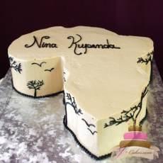 (720) Africa-Shaped Groom's Cake