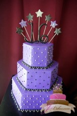 (919) Hexagonal Sweet 16 Cake